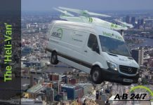 A-B 24/7 Wimbledon Couriers introduces the Helivan delivery service for London
