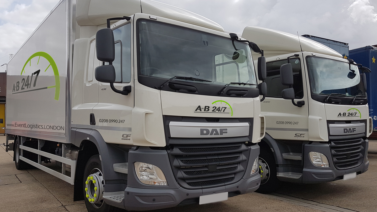 Event Transportation Trucks 1 AB247 Event Logistics