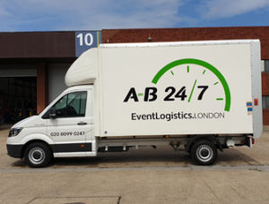 Photograph showing the side of an AB247 Luton Event Van