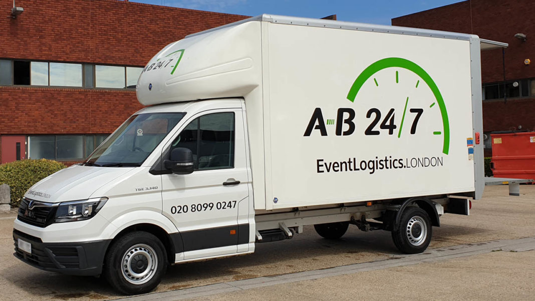 Photo showing the side of AB247's new Luton van