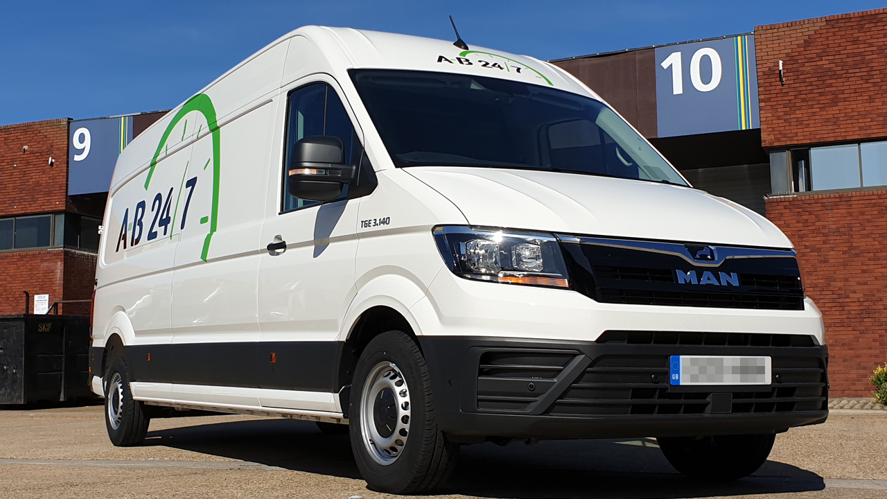 Photo of the our new MAN Event Van