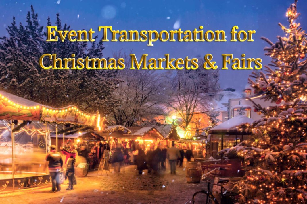 Event transportation for Christmas fairs and stands