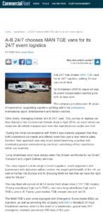 Screen grab from Commercial Fleet website