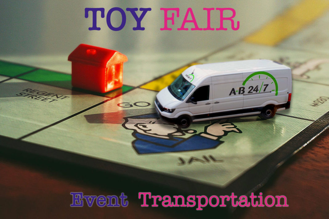Toy Fair olympia event transportation