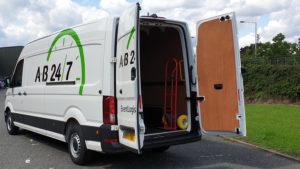 AB247 Event Transport Van with doors open