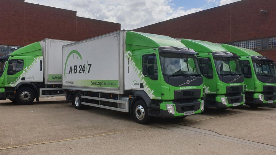 A-B 24/7 Haulage Trucks at London depot
